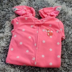 *BOGO* Carters fox zip up pajamas